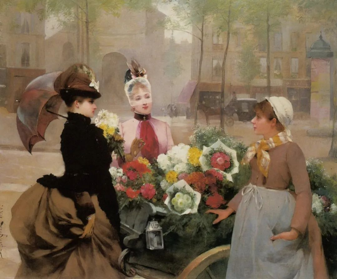 100年多前,她们是这样摆摊卖花的,好美的画面!插图34