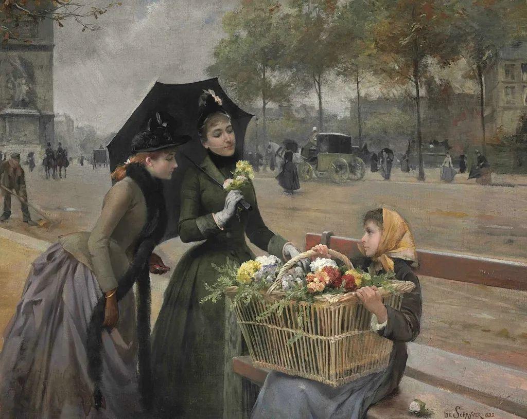 100年多前,她们是这样摆摊卖花的,好美的画面!插图35