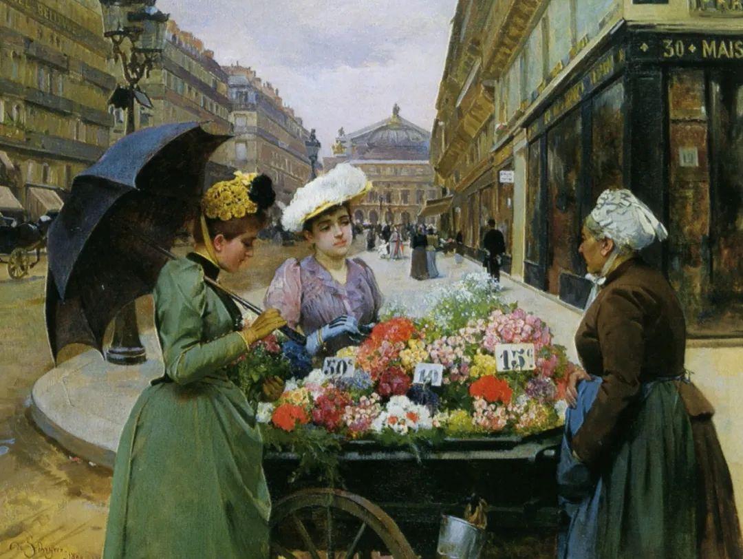 100年多前,她们是这样摆摊卖花的,好美的画面!插图36