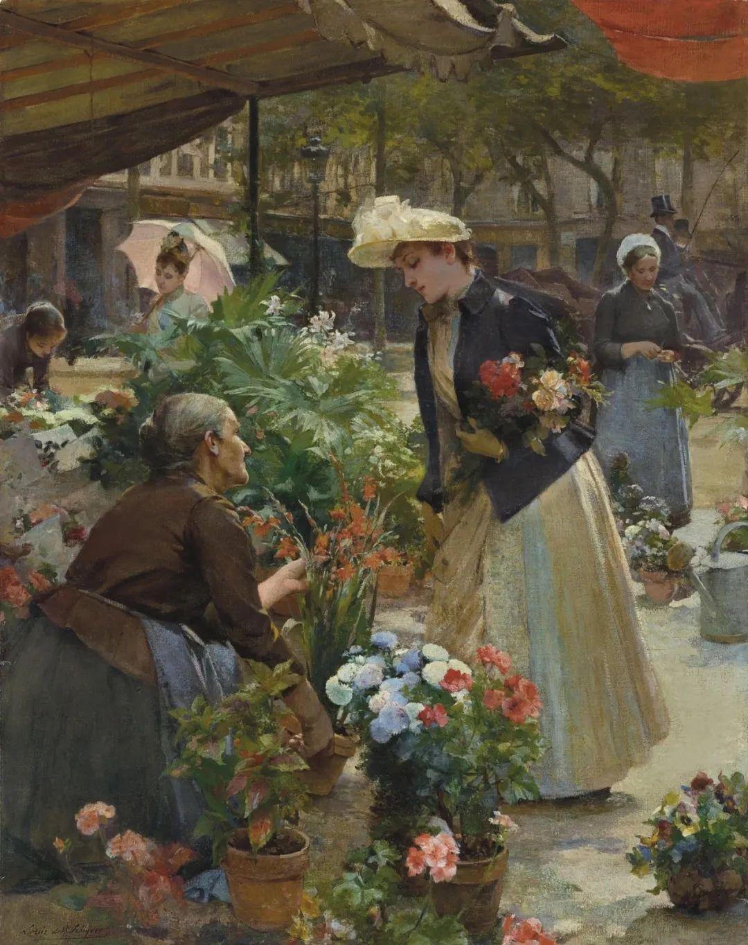 100年多前,她们是这样摆摊卖花的,好美的画面!插图38