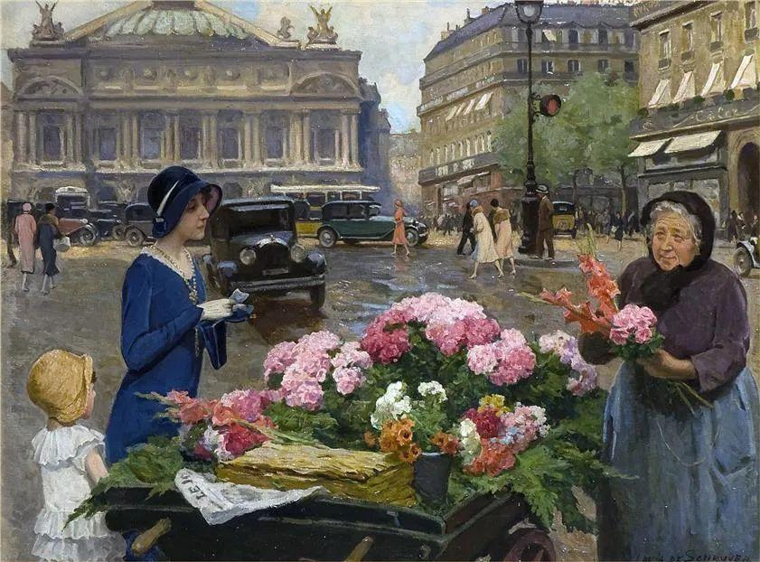 100年多前,她们是这样摆摊卖花的,好美的画面!插图39
