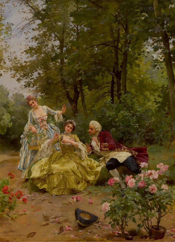 100年多前,她们是这样摆摊卖花的,好美的画面!插图42