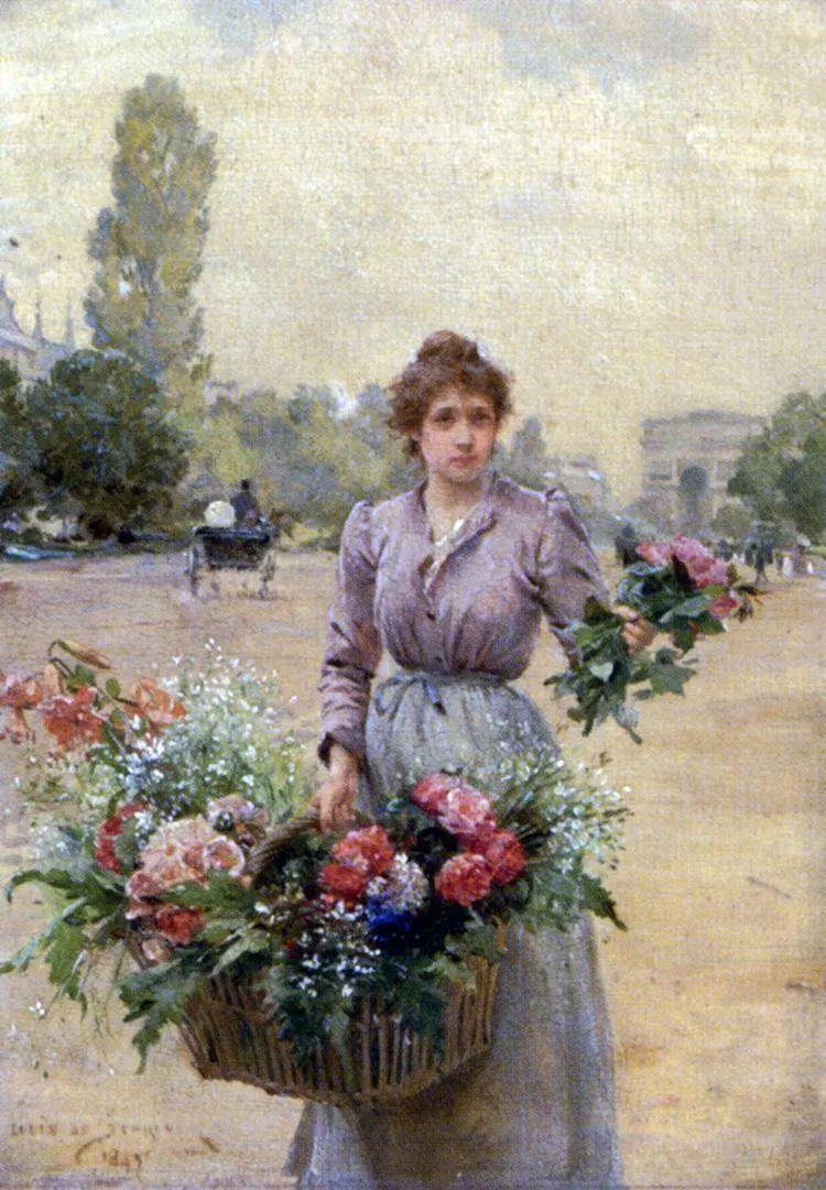 100年多前,她们是这样摆摊卖花的,好美的画面!插图47
