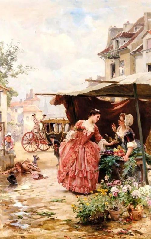 100年多前,她们是这样摆摊卖花的,好美的画面!插图48