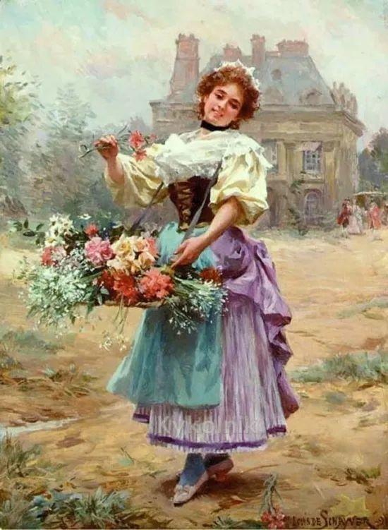 100年多前,她们是这样摆摊卖花的,好美的画面!插图49