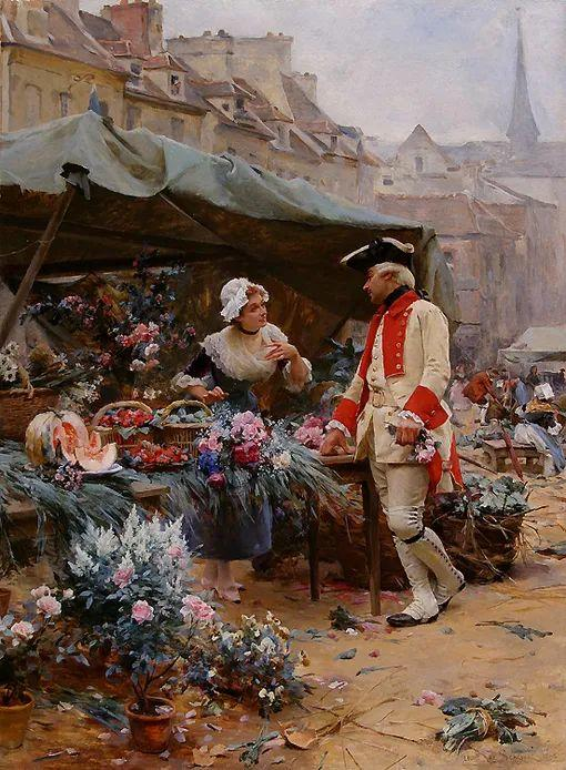 100年多前,她们是这样摆摊卖花的,好美的画面!插图50