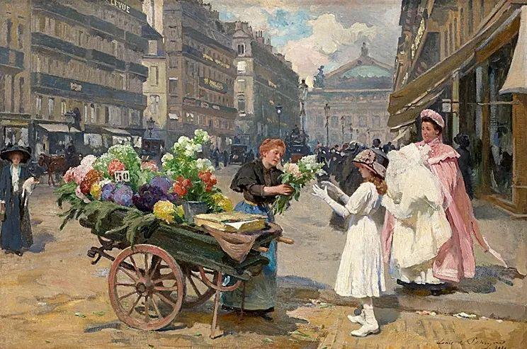 100年多前,她们是这样摆摊卖花的,好美的画面!插图51