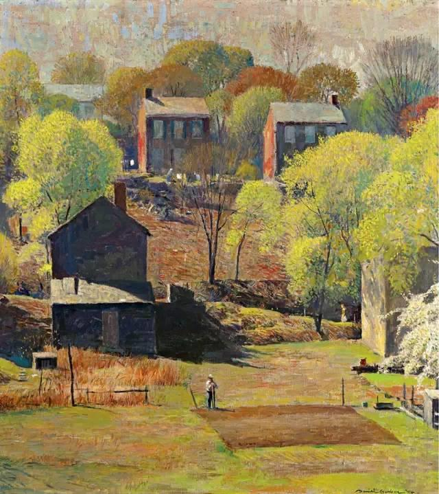 美国印象派画家丹尼尔·加伯插图