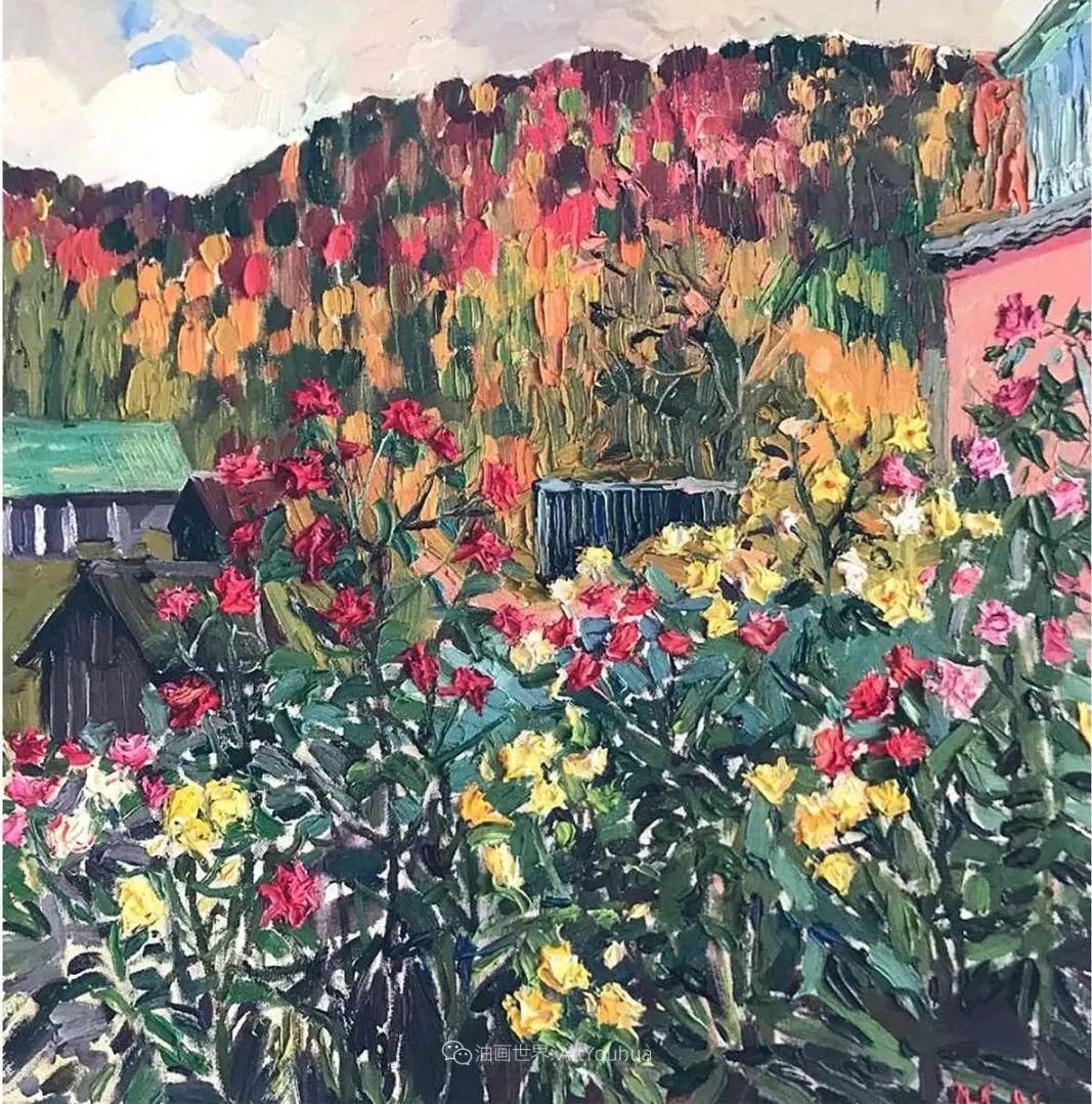大笔触风景与花卉,色彩靓丽,美轮美奂!插图5