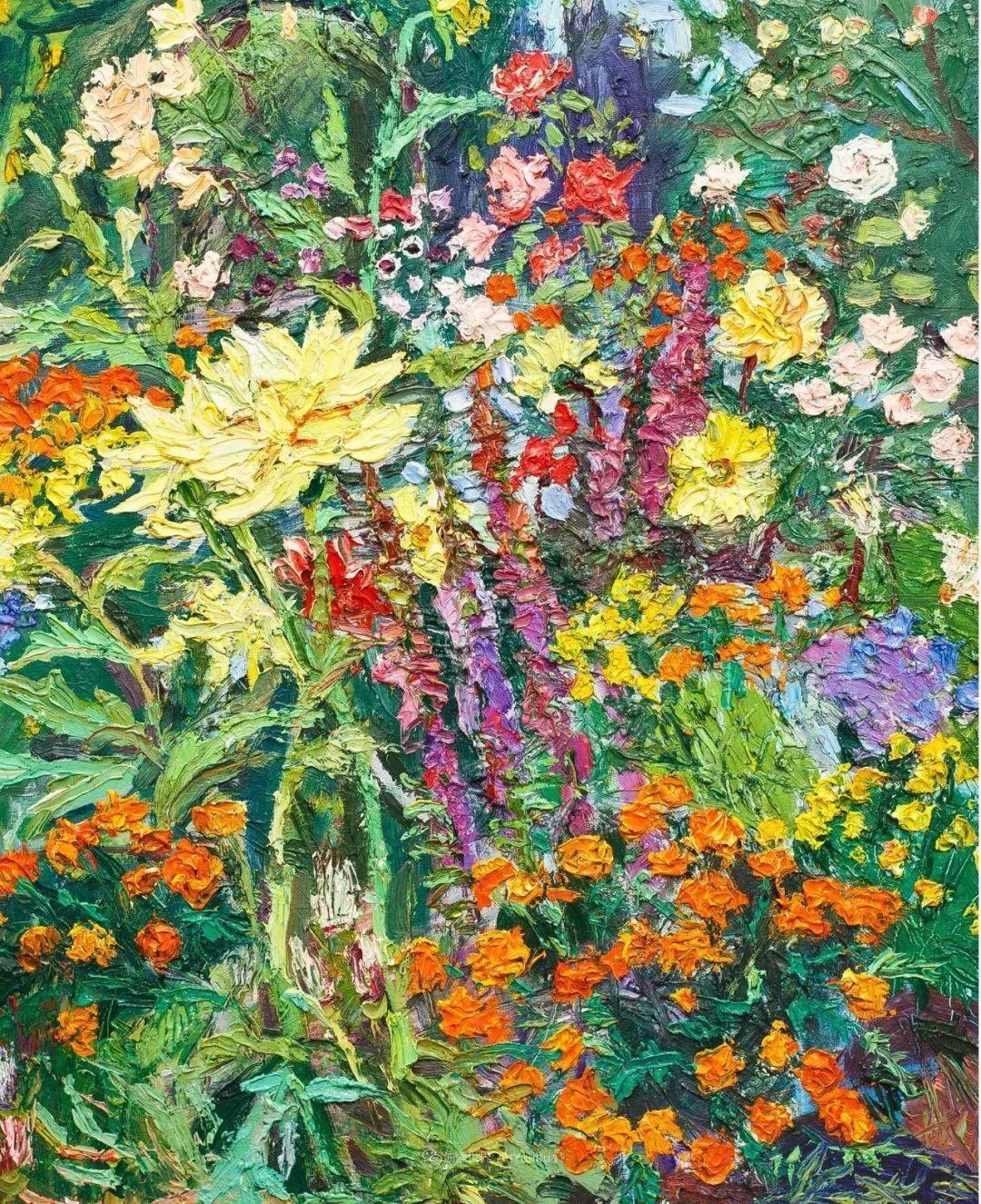 大笔触风景与花卉,色彩靓丽,美轮美奂!插图23