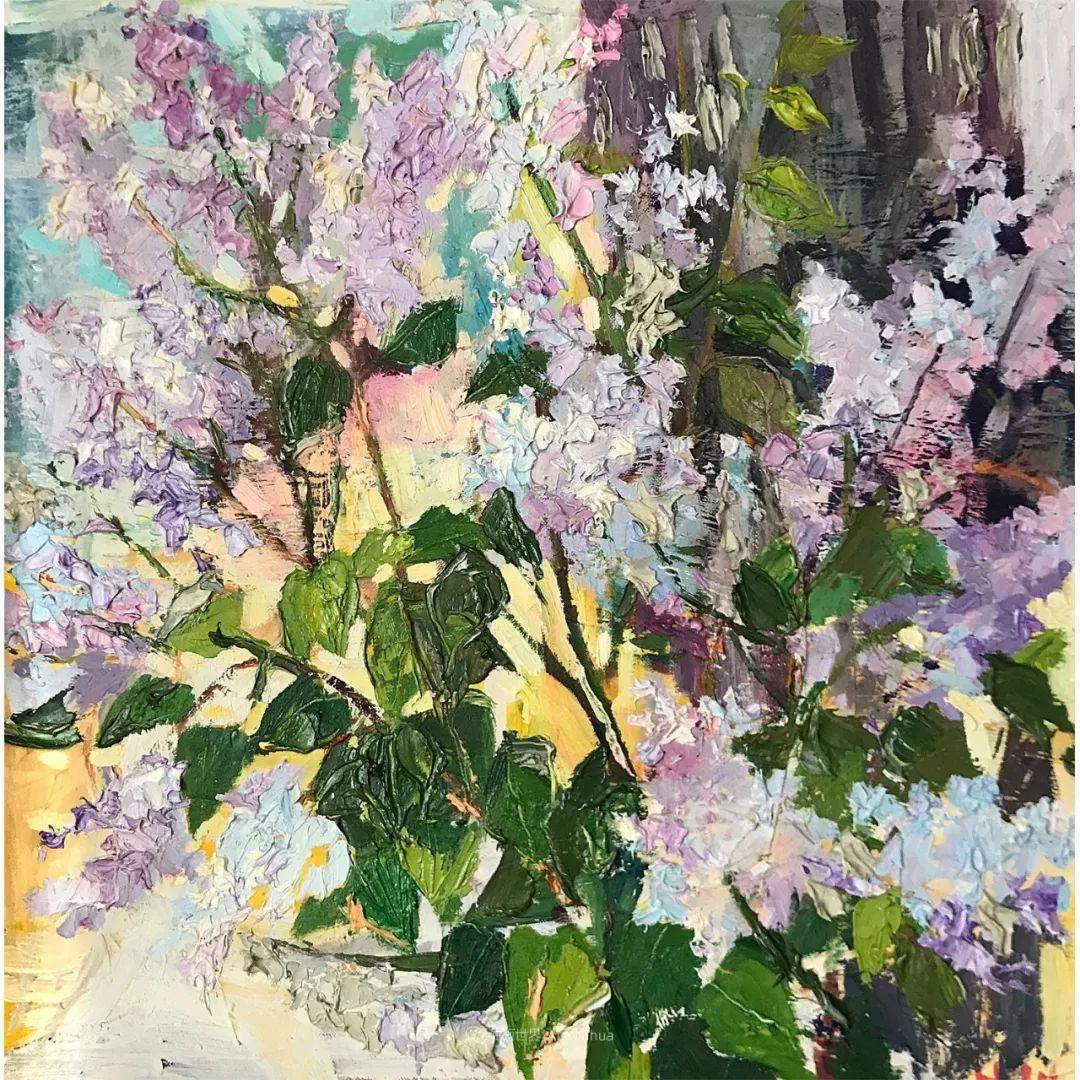 大笔触风景与花卉,色彩靓丽,美轮美奂!插图33