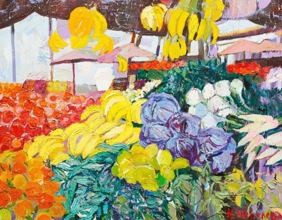 大笔触风景与花卉,色彩靓丽,美轮美奂!插图39