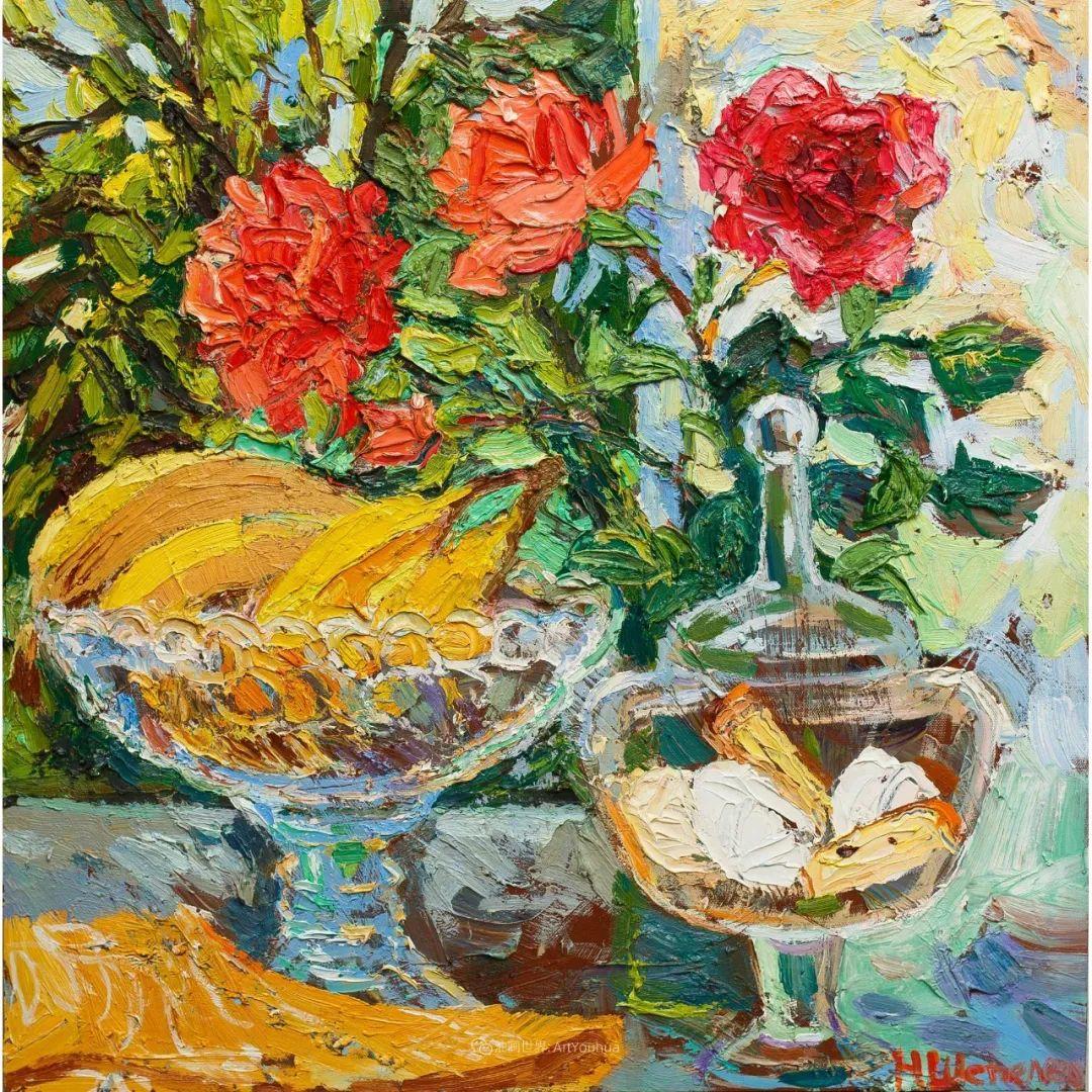 大笔触风景与花卉,色彩靓丽,美轮美奂!插图43