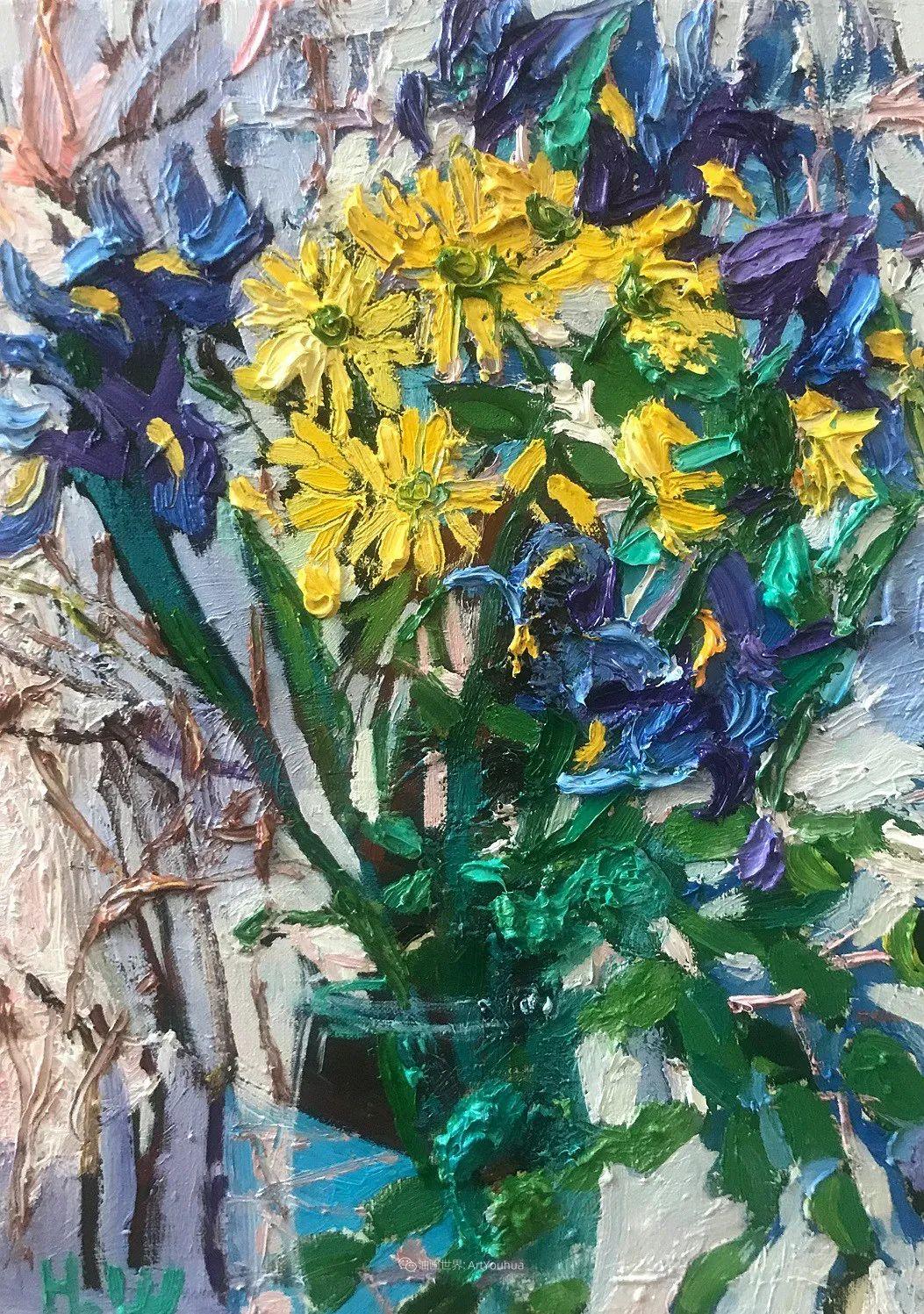 大笔触风景与花卉,色彩靓丽,美轮美奂!插图64
