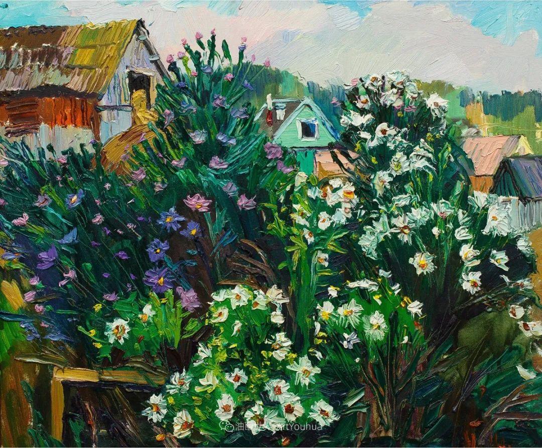 大笔触风景与花卉,色彩靓丽,美轮美奂!插图74