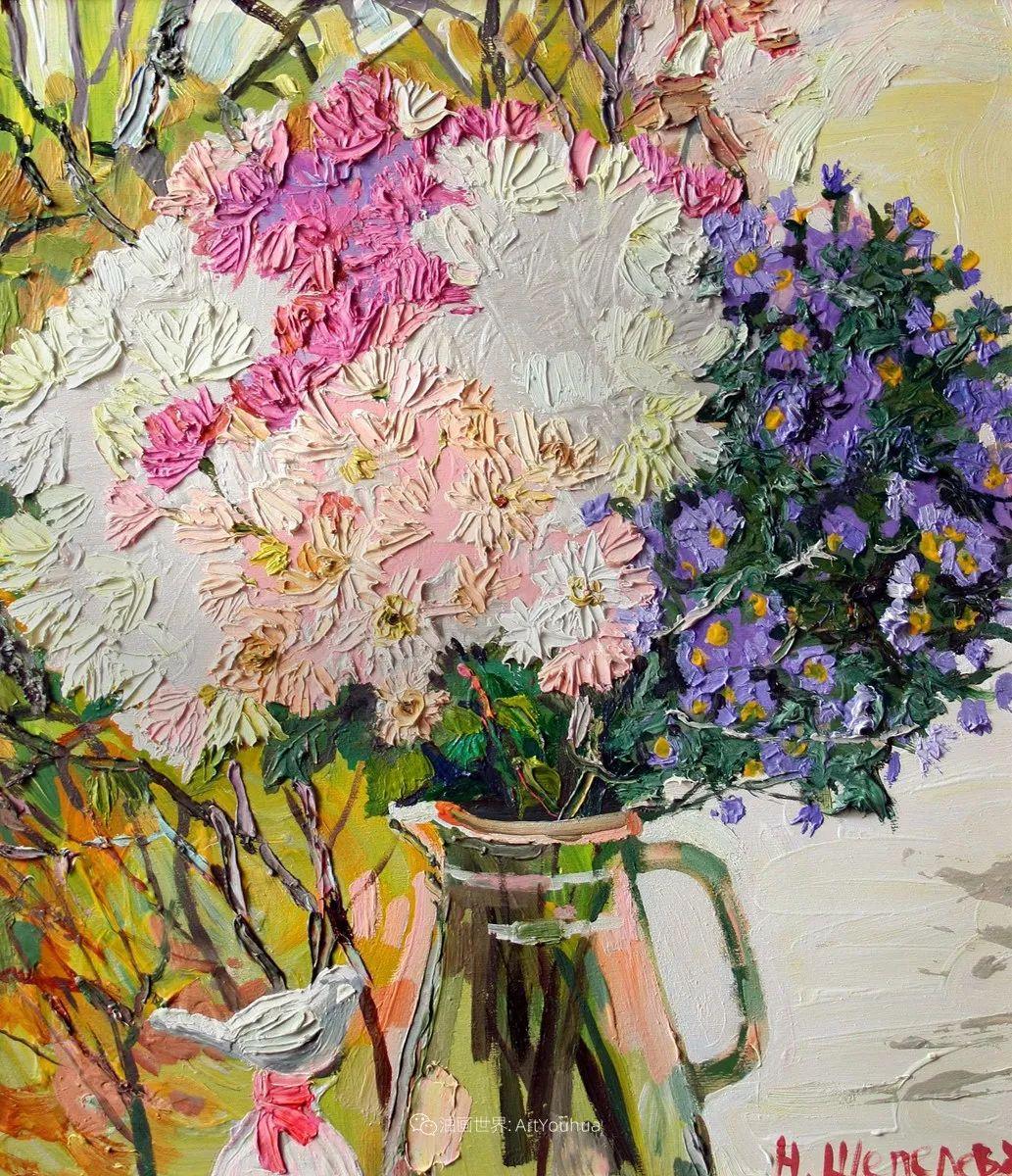 大笔触风景与花卉,色彩靓丽,美轮美奂!插图90