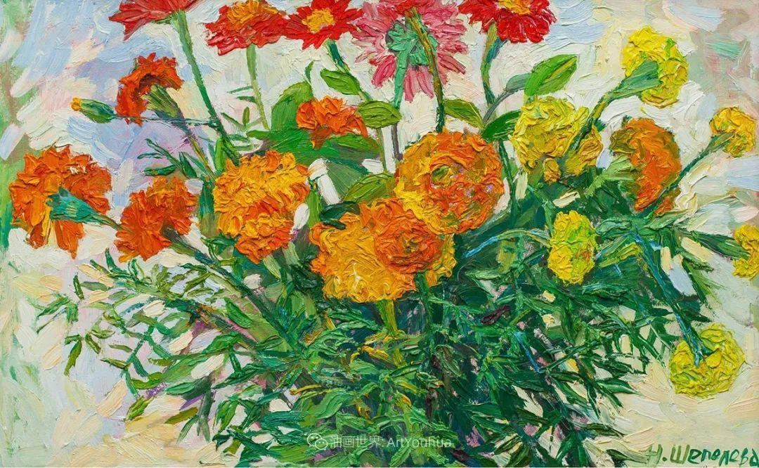 大笔触风景与花卉,色彩靓丽,美轮美奂!插图92