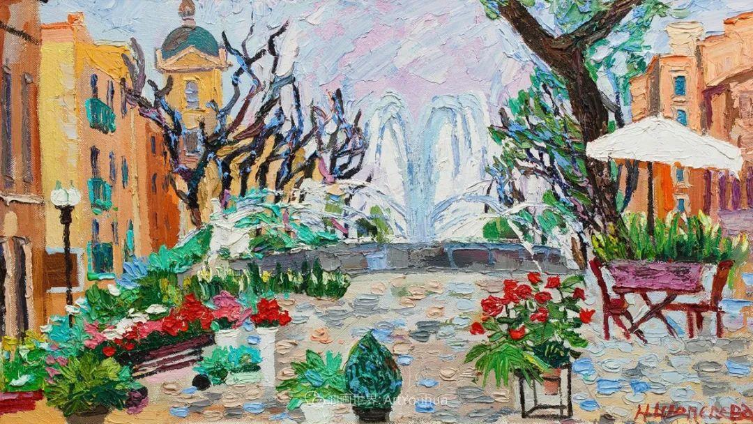 大笔触风景与花卉,色彩靓丽,美轮美奂!插图104