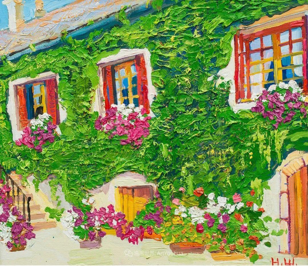 大笔触风景与花卉,色彩靓丽,美轮美奂!插图116