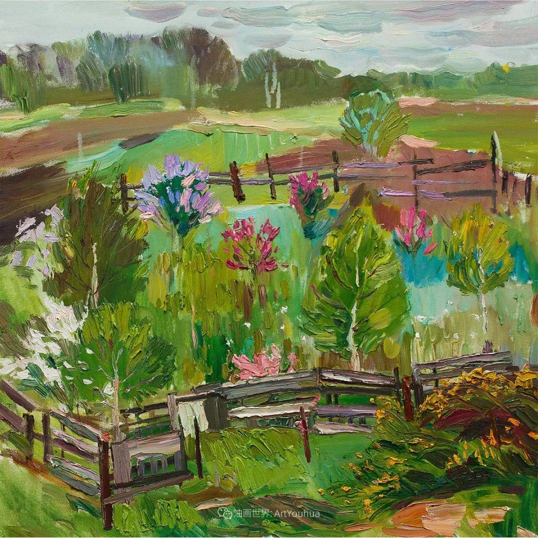 大笔触风景与花卉,色彩靓丽,美轮美奂!插图122