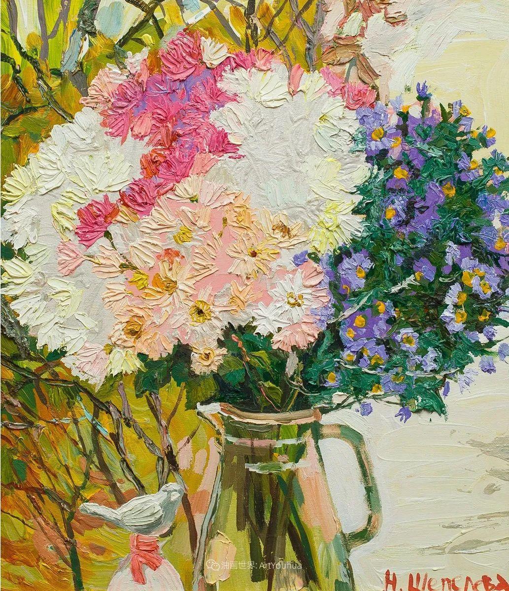 大笔触风景与花卉,色彩靓丽,美轮美奂!插图124
