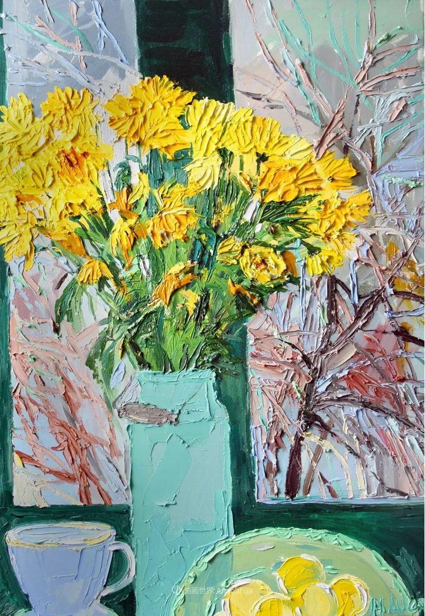大笔触风景与花卉,色彩靓丽,美轮美奂!插图126