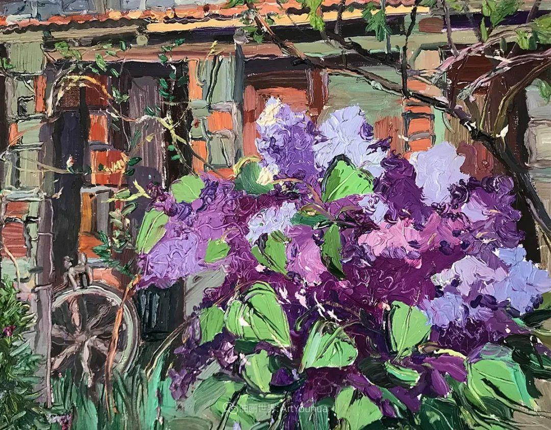 大笔触风景与花卉,色彩靓丽,美轮美奂!插图128
