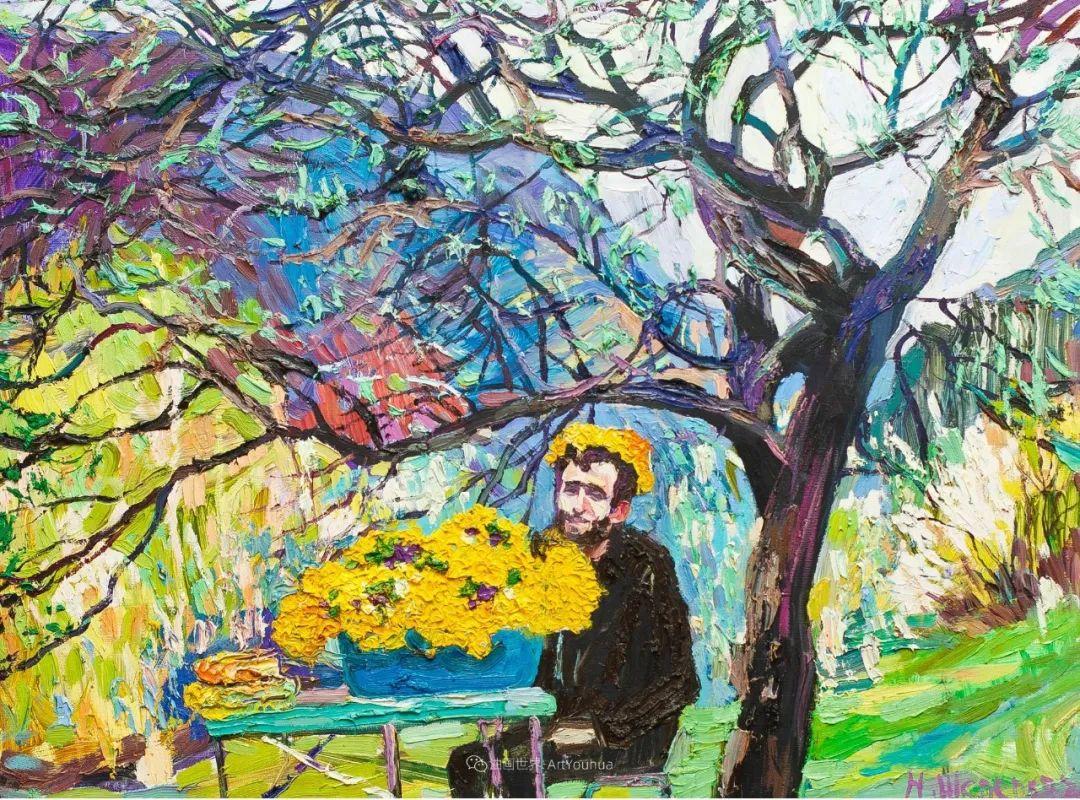 大笔触风景与花卉,色彩靓丽,美轮美奂!插图132