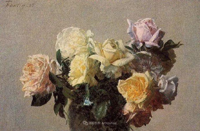 笔触细致,朴实写实,拉图尔花卉作品欣赏插图29
