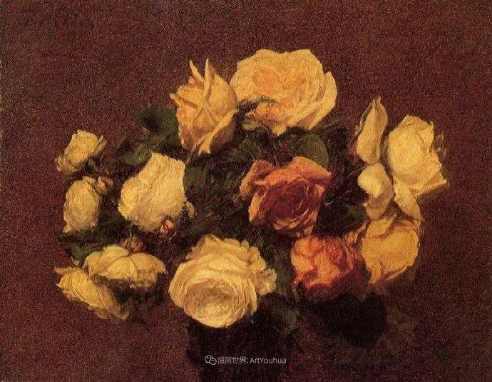 笔触细致,朴实写实,拉图尔花卉作品欣赏插图33