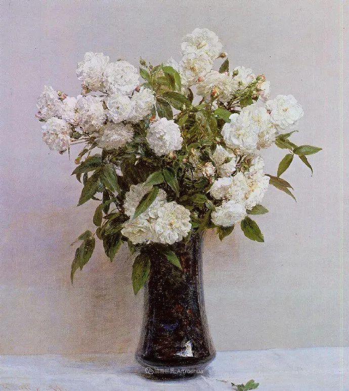 笔触细致,朴实写实,拉图尔花卉作品欣赏插图53