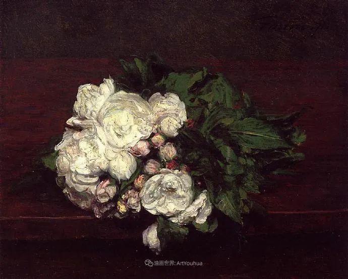 笔触细致,朴实写实,拉图尔花卉作品欣赏插图61