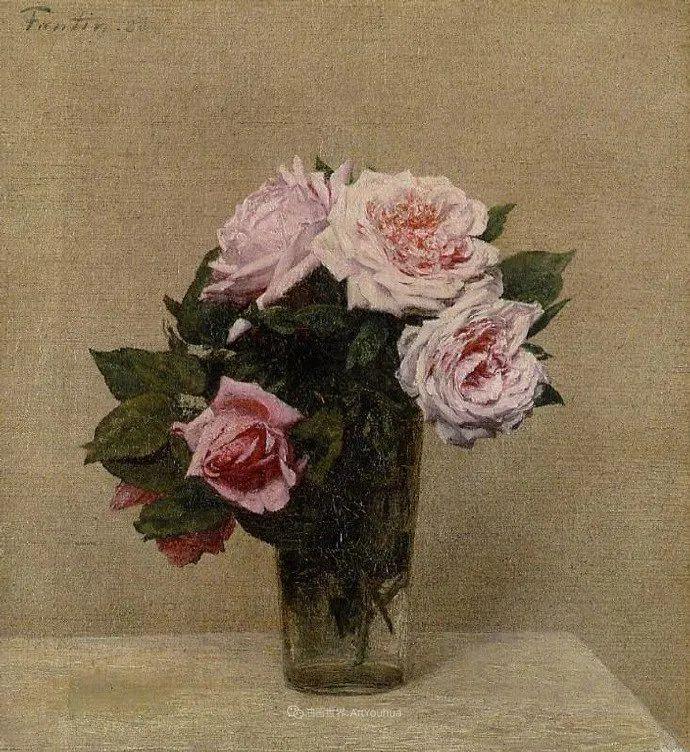 笔触细致,朴实写实,拉图尔花卉作品欣赏插图68