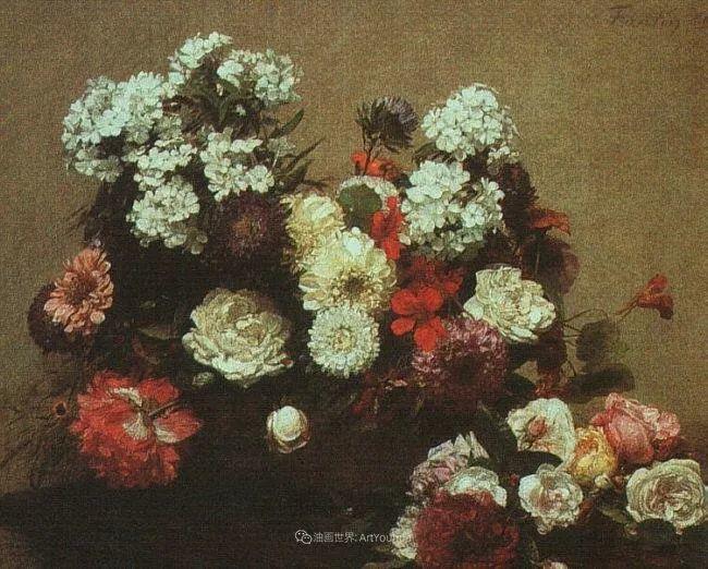 笔触细致,朴实写实,拉图尔花卉作品欣赏插图76