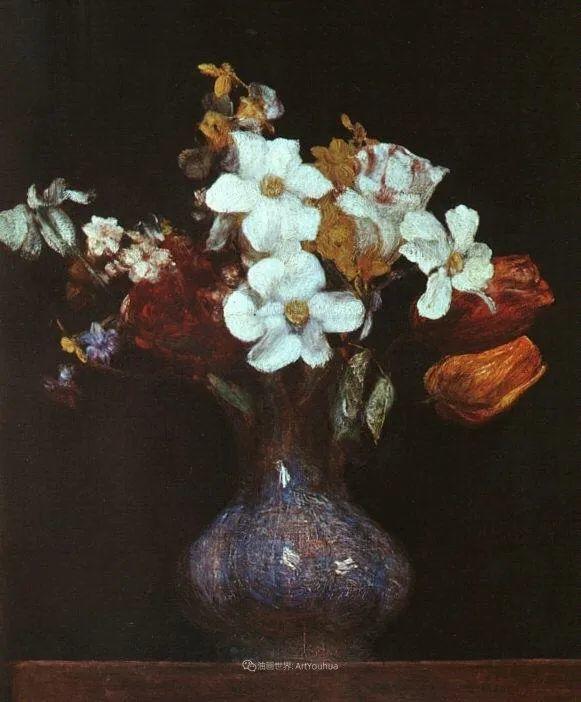 笔触细致,朴实写实,拉图尔花卉作品欣赏插图116