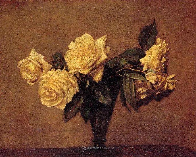 笔触细致,朴实写实,拉图尔花卉作品欣赏插图130