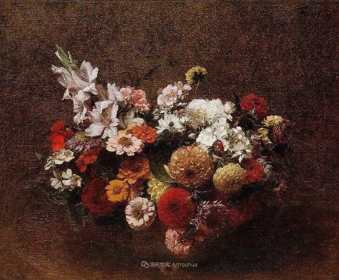 笔触细致,朴实写实,拉图尔花卉作品欣赏插图152