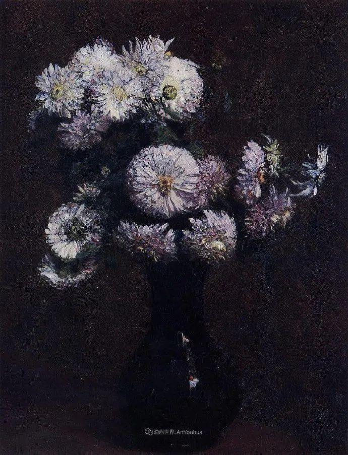 笔触细致,朴实写实,拉图尔花卉作品欣赏插图160