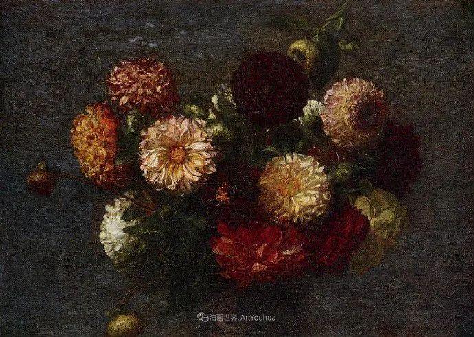笔触细致,朴实写实,拉图尔花卉作品欣赏插图164