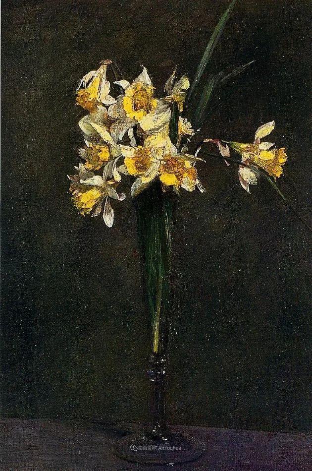 笔触细致,朴实写实,拉图尔花卉作品欣赏插图168