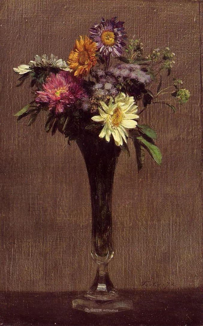 笔触细致,朴实写实,拉图尔花卉作品欣赏插图174