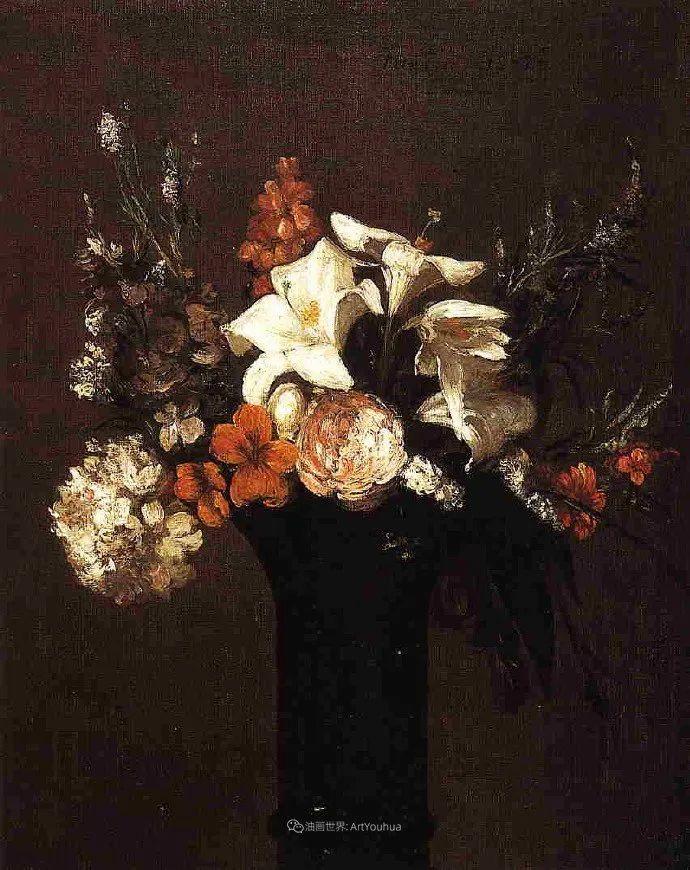 笔触细致,朴实写实,拉图尔花卉作品欣赏插图192
