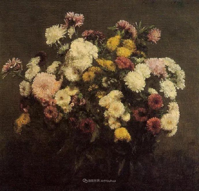 笔触细致,朴实写实,拉图尔花卉作品欣赏插图221