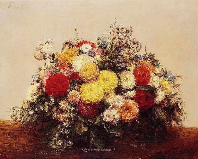 笔触细致,朴实写实,拉图尔花卉作品欣赏插图225
