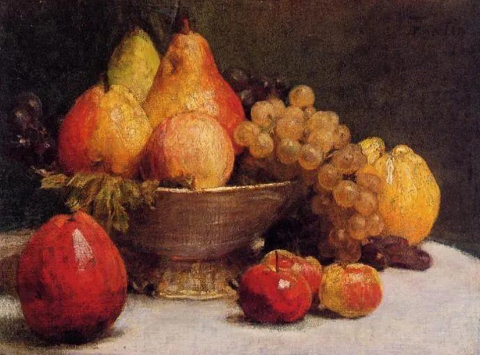 色彩细腻丰富,拉图尔水果静物作品插图