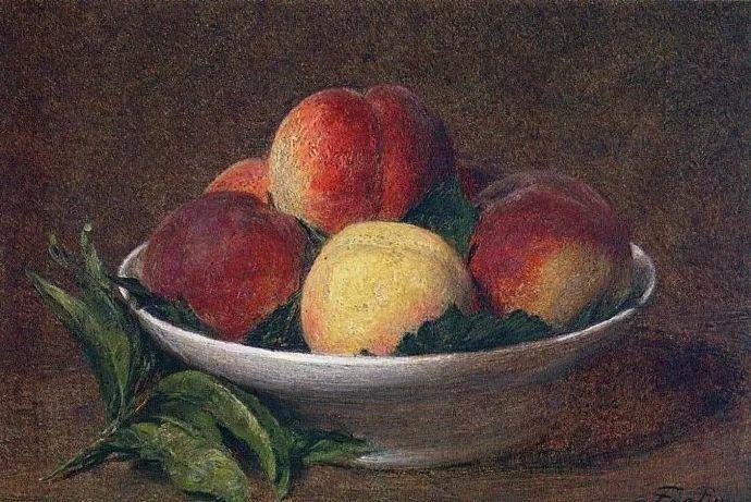 色彩细腻丰富,拉图尔水果静物作品插图1