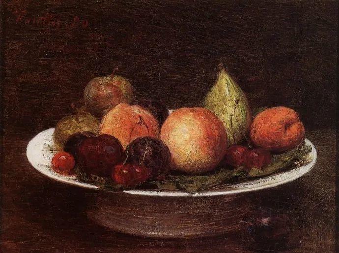 色彩细腻丰富,拉图尔水果静物作品插图3