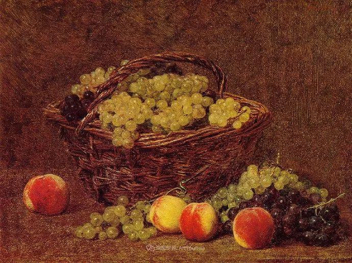 色彩细腻丰富,拉图尔水果静物作品插图8