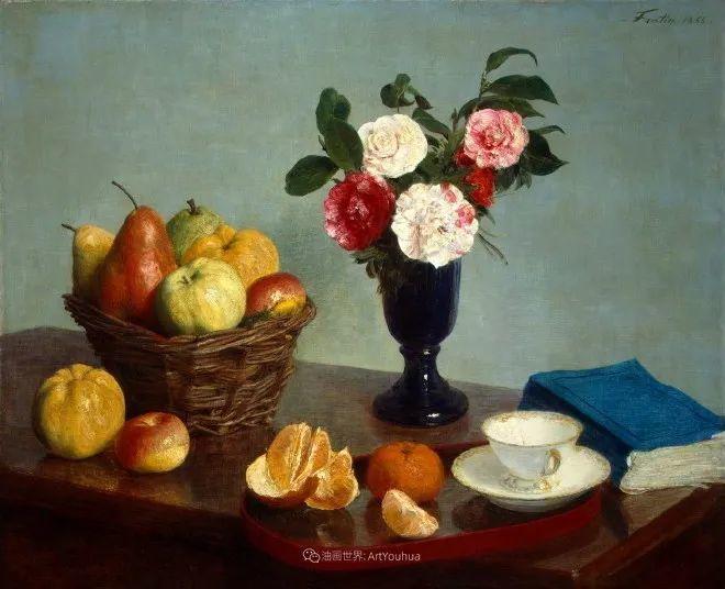 色彩细腻丰富,拉图尔水果静物作品插图10