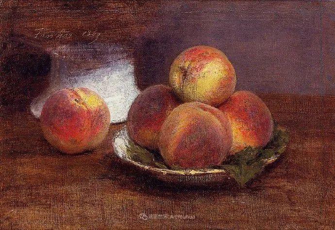 色彩细腻丰富,拉图尔水果静物作品插图12